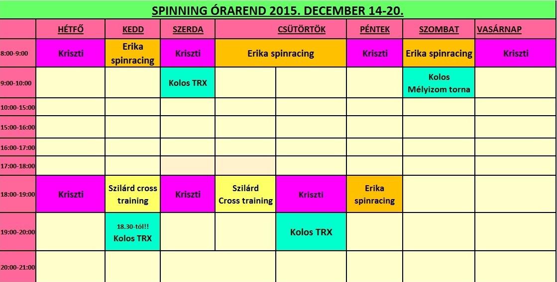 spinning dec. 14-20